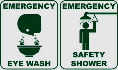 Location of eyewash and safety shower should be included in the site specific HF procedure.