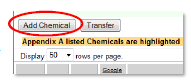 example 1 of adding a chemical