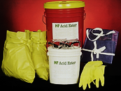 Commercially Available Spill Kit includes: