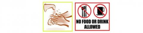 No food or drink allowed graphic