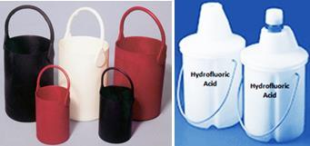 Rubber Bottle Carrier and Enclosed secondary container