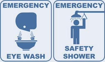 Emergency Eye wash and Shower labels
