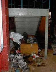 trashed stairwell