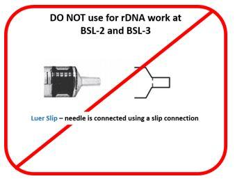DO NOT use for rDNA work at BSL-2 and BSL-3