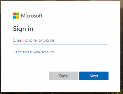 SharePoint sign in modal graphic
