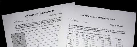 Picture of Eyewash Sheets