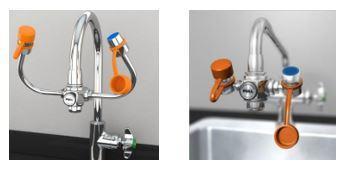 faucet-mounted eye wash station