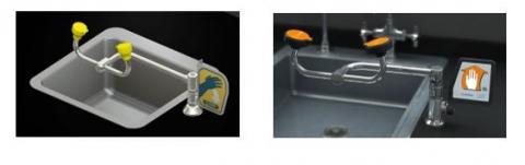 Deck-Mounted Swing Arm Eye Wash