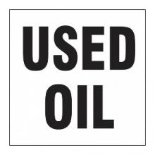 used oil label